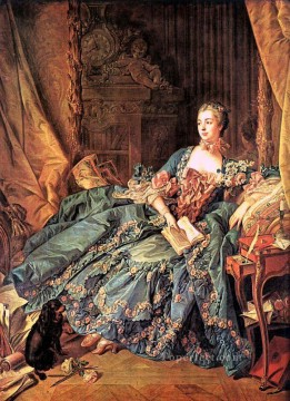 The Marquise de Pompadour Francois Boucher classic Rococo Oil Paintings