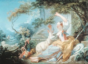 shepherdess 1752 hedonism Jean Honore Fragonard classic Rococo Oil Paintings
