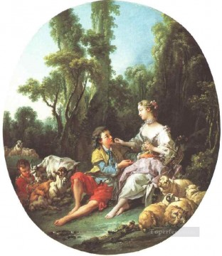 Rococo Painting - Are They Thinking About the Grape Francois Boucher classic Rococo