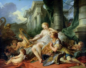 Rinaldo and Armida Francois Boucher classic Rococo Oil Paintings