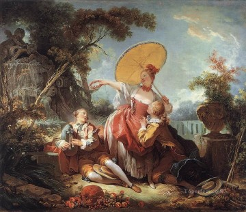 The Musical Contest Jean Honore Fragonard classic Rococo Oil Paintings