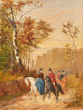 horse riders Bild W Becker Oil Paintings
