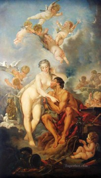 The Visit of Venus to Vulcan Francois Boucher classic Rococo Oil Paintings