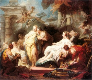 Psyche showing her Sisters her Gifts from Cupid Jean Honore Fragonard Rococo Oil Paintings