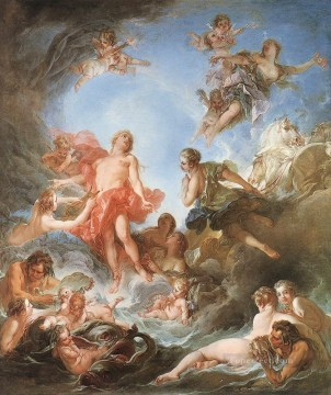 The Rising of the Sun Francois Boucher classic Rococo Oil Paintings