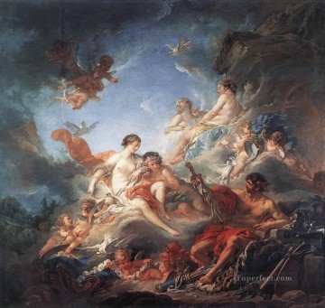 Vulcan Presenting Venus with Arms for Aeneas Francois Boucher Rococo Oil Paintings