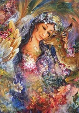 El eterno ciclo de la vida Persian Miniatures Fairy Tales Oil Paintings