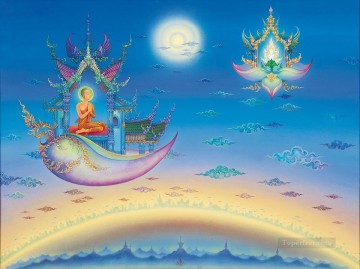 Fairy Tales Painting - Clairvoyant in the Land of Lord Buddha CK Fairy Tales