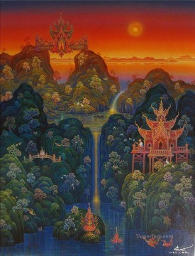 contemporary Buddhism fantasy 006 CK Fairy Tales Oil Paintings