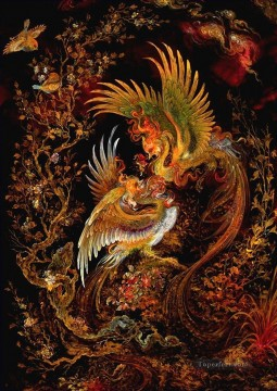 phoenix Persian Miniatures Fairy Tales Oil Paintings