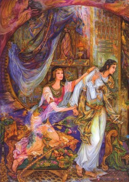 El casto el profeta Jose Persian Miniatures Fairy Tales Oil Paintings