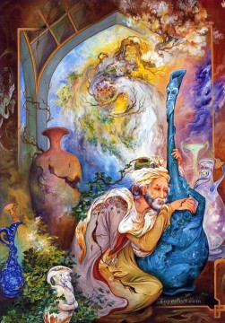 Recordar la juventud Persian Miniatures Fairy Tales Oil Paintings