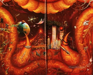 the earth bound for destruction CK Fairy Tales Oil Paintings