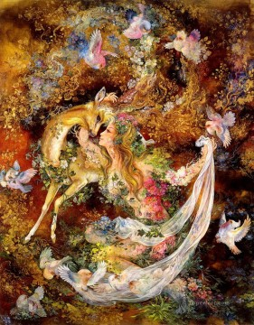 Fairy Tales Painting - yearning to be caressed Persian Miniatures Fairy Tales