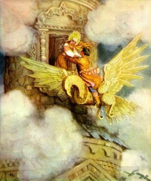Fantastic Stories Painting - Russian nicolai kochergin the wooden eagle Fantastic