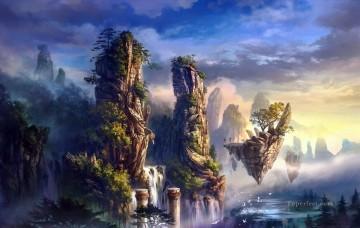 Fantastic Stories Painting - dream world Asian