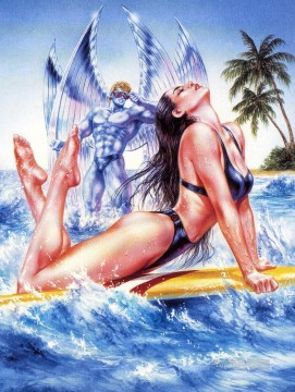 Fantastic Stories Painting - evolution psylocke and archangel Fantastic