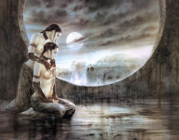 Fantastic Stories Painting - ointment and moon bath Fantastic