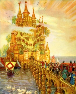 Fantastic Stories Painting - Russian copper silver and golden realms Fantastic