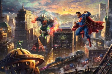 Fantastic Stories Painting - Superman Man of Steel Hollywood Movie fantasy