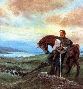 Fantastic Stories Painting - cavalier the last prince of ireland Fantastic