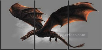 US TV Show Game of Thrones Dragon Oil Paintings