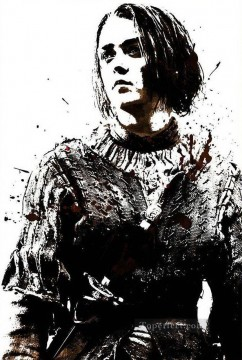 Artworks in 150 Subjects Painting - Portrait of Arya Stark POP Art Game of Thrones