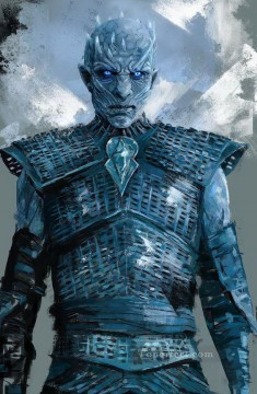 Game of Thrones Painting - Portrait of The Night King Game of Thrones