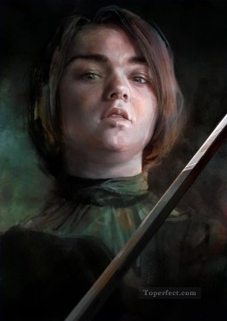 Artworks in 150 Subjects Painting - Arya Stark childhood Game of Thrones