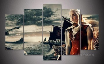 Daenerys Targaryen on sea Game of Thrones Oil Paintings