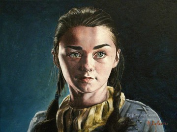 Thrones Art Painting - Little Arya Stark In Winterfell Game of Thrones