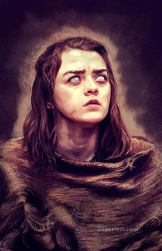 Artworks in 150 Subjects Painting - Portrait of Arya Stark blind Game of Thrones