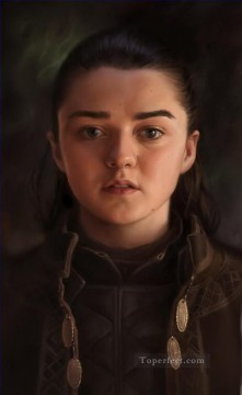 Thrones Canvas - Portrait of Arya Stark classicism Game of Thrones