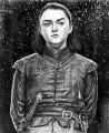 Portrait of Arya Stark in snow Game of Thrones