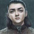 Portrait of Arya Stark smiling Game of Thrones