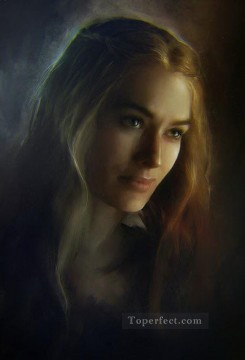 Artworks in 150 Subjects Painting - Portrait of Cersei Lannister classicism Game of Thrones
