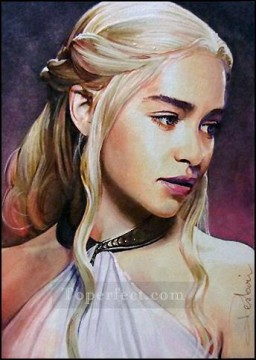 Artworks in 150 Subjects Painting - Portrait of Daenerys Targaryen 3 Game of Thrones