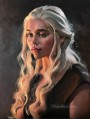 Portrait of Daenerys Targaryen impasto Game of Thrones