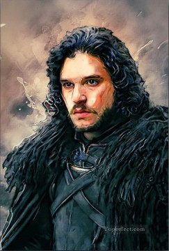 Game of Thrones Painting - Portrait of John Snow 6 Game of Thrones