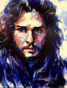 Artworks in 150 Subjects Painting - Portrait of John Snow 2 Game of Thrones