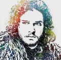 Portrait of John Snow POP Art Game of Thrones