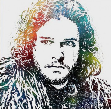 Artworks in 150 Subjects Painting - Portrait of John Snow POP Art Game of Thrones