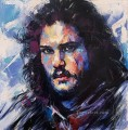 Portrait of John Snow blue Game of Thrones
