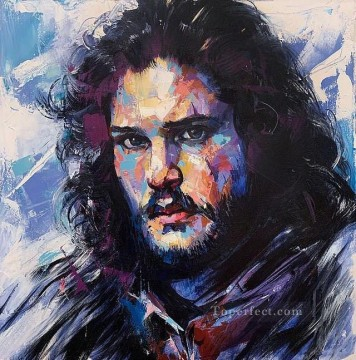 Artworks in 150 Subjects Painting - Portrait of John Snow blue Game of Thrones