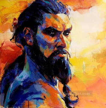 Portrait of Khal Drogo Game of Thrones Oil Paintings