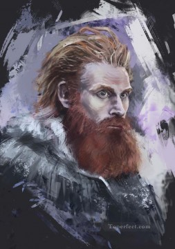 Portrait of Tormund Giantsbane Game of Thrones Oil Paintings