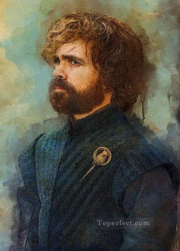Game of Thrones Painting - Portrait of Tyrion Lannister as Hand of King Game of Thrones