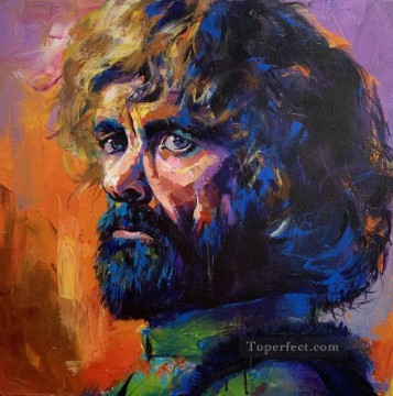 Artworks in 150 Subjects Painting - Portrait of Tyrion Lannister in brown Game of Thrones