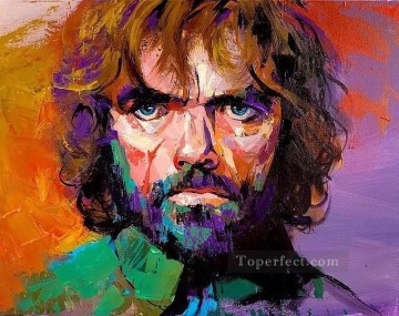 Portrait of Tyrion Lannister in purple Game of Thrones Oil Paintings