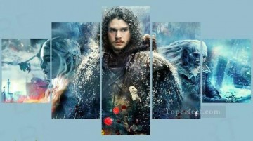 A Song of Ice and Fire in 5 panels Oil Paintings